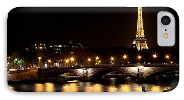 IPhone Case featuring the photograph Eiffel Tower At Night 1 by Andrew Fare