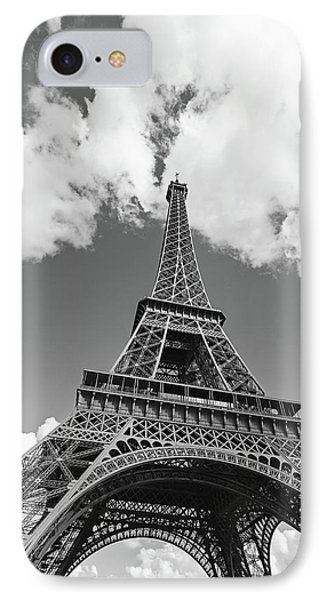 Eiffel Tower - Black And White IPhone Case by Melanie Alexandra Price