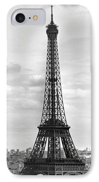 Eiffel Tower Black And White Phone Case by Melanie Viola