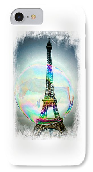 Eiffel Tower Bubble IPhone Case