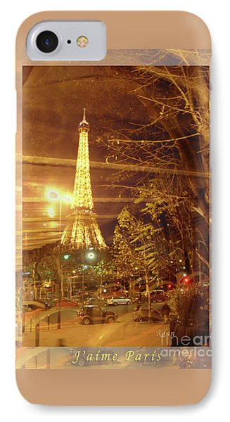 Eiffel Tower By Bus Tour Greeting Card Poster IPhone Case by Felipe Adan Lerma