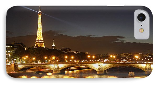 Eiffel Tower By Night IPhone Case by Wilko Van de Kamp