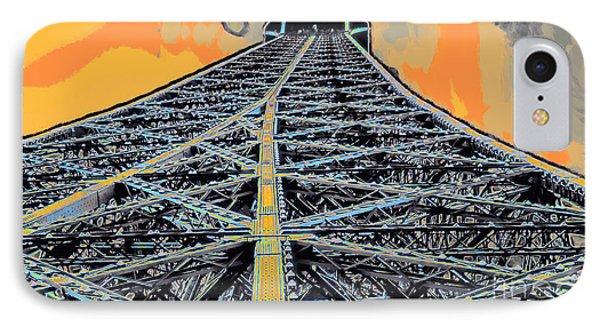 Eiffel Tower IPhone Case by GabeZ Art