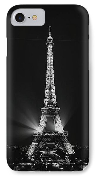 Eiffel Tower Noir IPhone Case by Melanie Alexandra Price