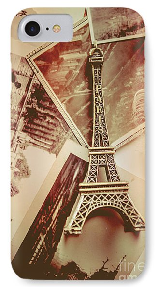 Eiffel Tower Old Romantic Stories In Ancient Paris IPhone Case by Jorgo Photography - Wall Art Gallery