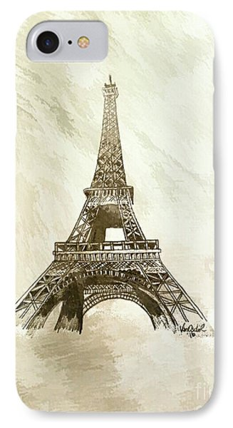 Eiffel Tower Paris France - Abstract Background  IPhone Case by Scott D Van Osdol
