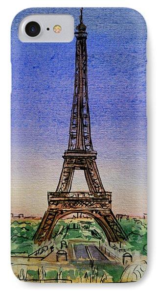 Eiffel Tower Paris France Phone Case by Irina Sztukowski