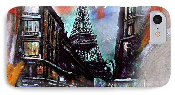 Eiffel Tower Paris IPhone Case by Gull G