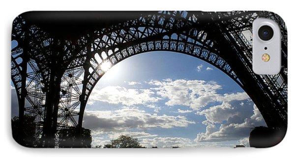 Eiffel Tower Sky Phone Case by Rosie Brown