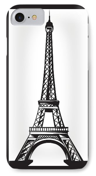 Eiffel Tower Up Phone Case by Stanley Mathis