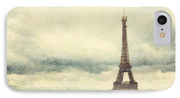 Eiffel Tower Watercolour IPhone Case by Jane Rix