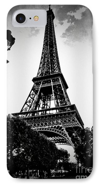 The Eiffel Tower With Vignetting IPhone Case
