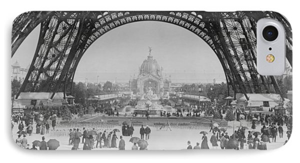 Eiffel Tower - World's Fair 1889 IPhone Case by War Is Hell Store