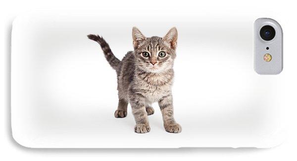 Eight Week Old Playful Tabby Kitten IPhone Case