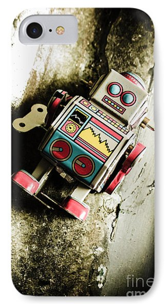 Eighties Cybernetic Droid  IPhone Case by Jorgo Photography - Wall Art Gallery