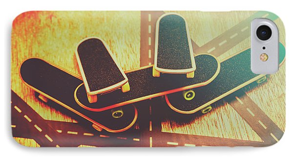Eighties Street Skateboarders IPhone Case by Jorgo Photography - Wall Art Gallery