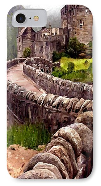 IPhone Case featuring the painting Eilean Donan Castle by James Shepherd