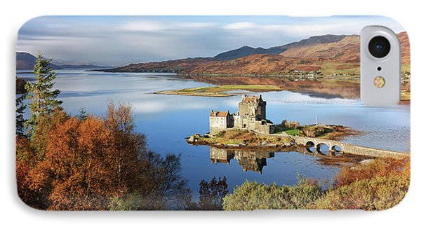 IPhone Case featuring the photograph Eilean Donan In Autumn - Dornie by Grant Glendinning