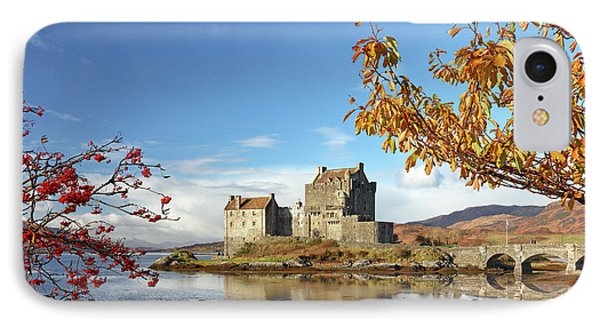 IPhone Case featuring the photograph Eilean Donan In Autumn by Grant Glendinning
