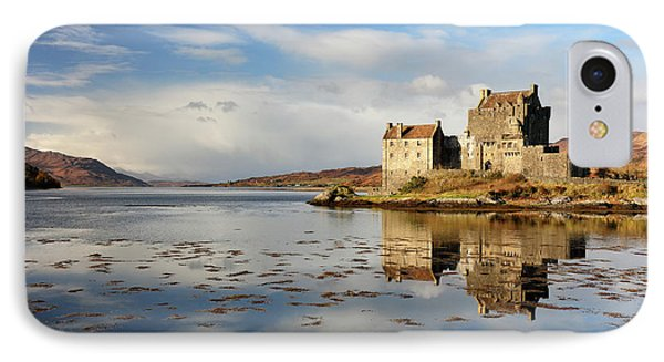 IPhone Case featuring the photograph Eilean Donan - Loch Duich Reflection - Dornie by Grant Glendinning