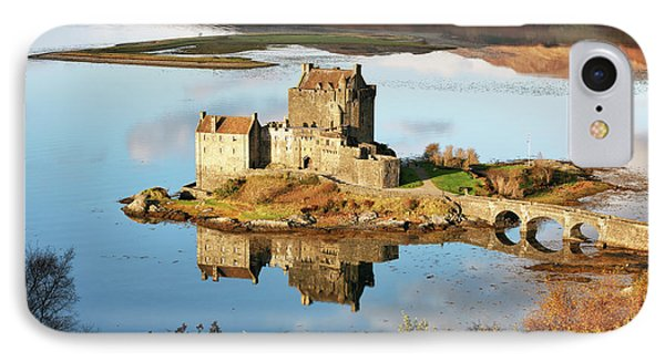 IPhone Case featuring the photograph Eilean Donan - Loch Duich Reflection - Skye And Lochalsh by Grant Glendinning