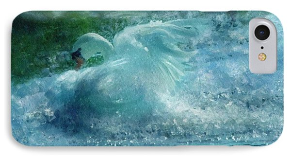 Ein Schwan - The Swan IPhone Case by Georgiana Romanovna