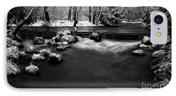 Eisbach In The Winter Phone Case by Hannes Cmarits
