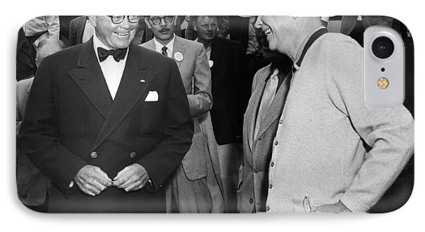 Eisenhower At Pebble Beach IPhone Case by Underwood Archives