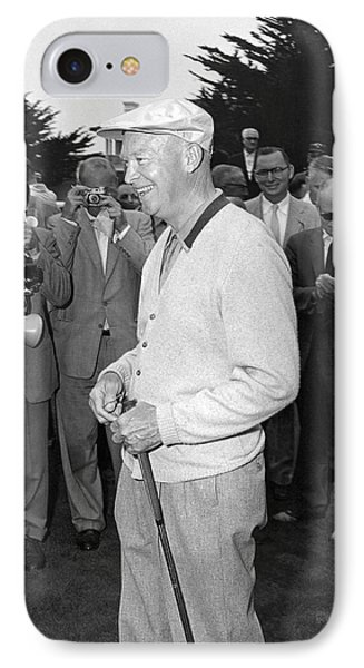 Eisenhower Meets Press IPhone Case by Underwood Archives