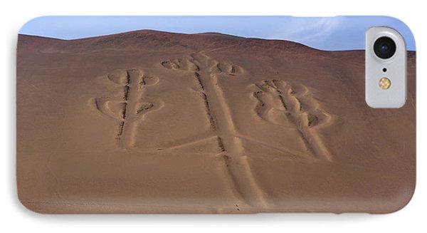 IPhone Case featuring the photograph El Candelabro Peru by Aidan Moran