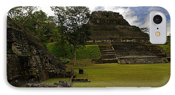 El Castillo Pyramid At Xunantunich IPhone Case by Panoramic Images
