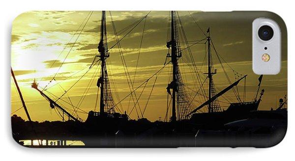 El Galeon Sunrise IPhone Case by D Hackett