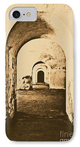 El Morro Fort Barracks Arched Doorways Vertical San Juan Puerto Rico Prints Rustic Phone Case by Shawn O'Brien