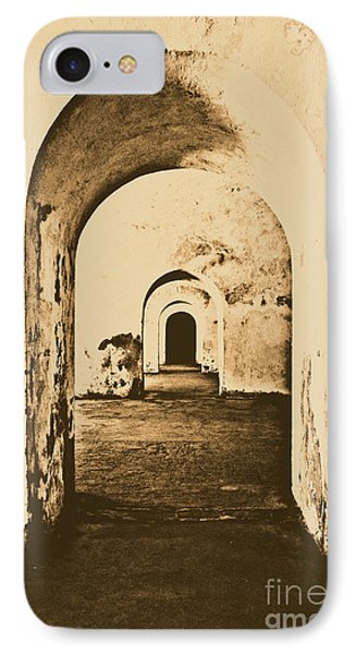 El Morro Fort Barracks Arched Doorways Vertical San Juan Puerto Rico Prints Rustic Phone Case by Shawn O'Brien