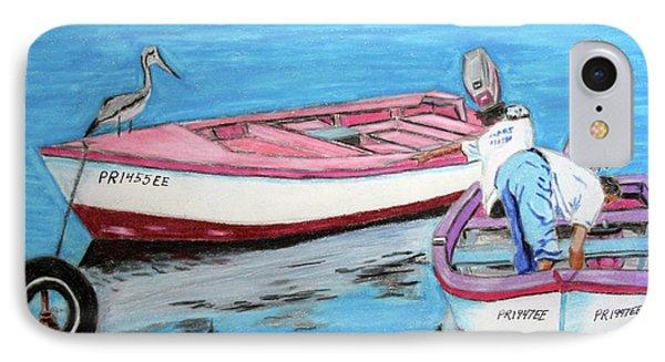 El Pescador De Guanica Phone Case by Luis F Rodriguez