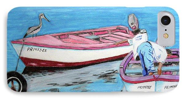 El Pescador De Guanica IPhone Case by Luis F Rodriguez