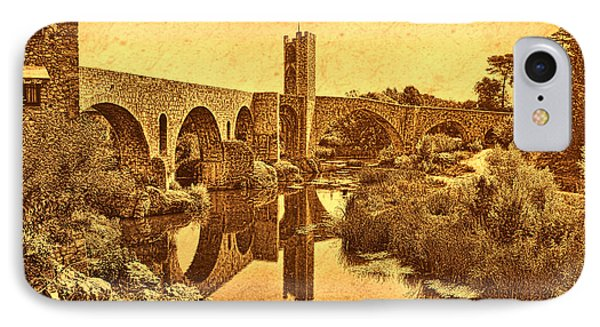 El Pont Viel IPhone Case by Nigel Fletcher-Jones