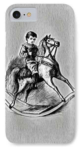 IPhone Case featuring the digital art Elaborate Rocking Horse by Pennie McCracken