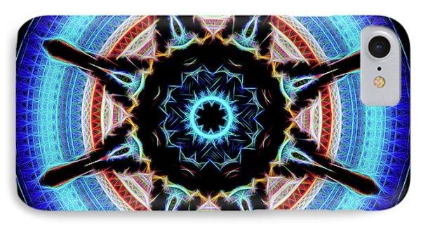 10783 Elbphilharmonie Hamburg Kaleidoscope Neon IPhone Case