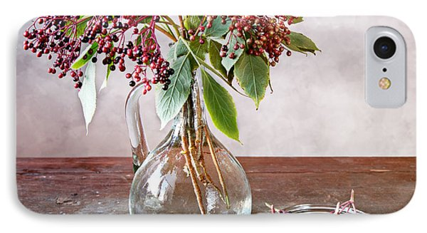 Elderberries 07 IPhone Case by Nailia Schwarz