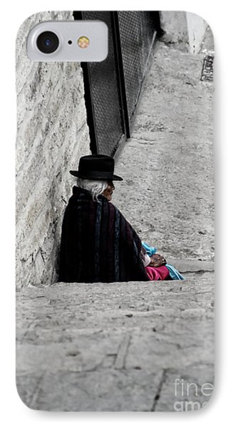 Elderly Beggar In Chordeleg Phone Case by Al Bourassa