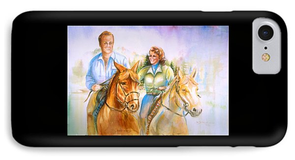 IPhone Case featuring the painting Eleanor And George by Patricia Schneider Mitchell