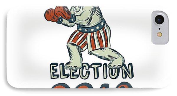 Election 2016 Republican Elephant Boxer Etching IPhone Case