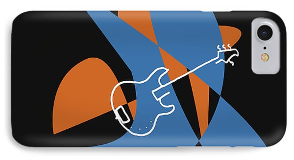 Electric Bass In Blue IPhone Case