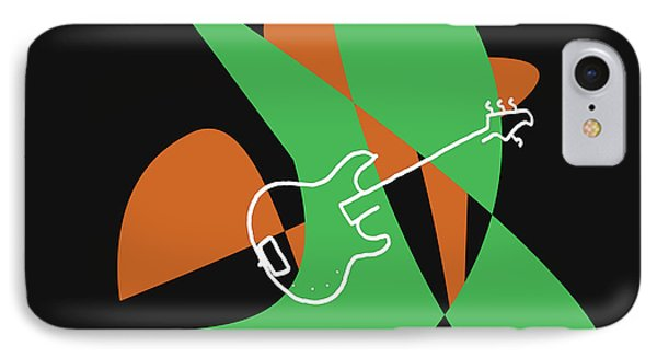 Electric Bass In Green IPhone Case