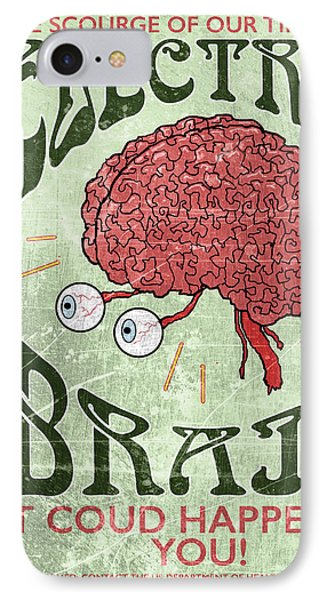 Electric Brain IPhone Case by H James Hoff