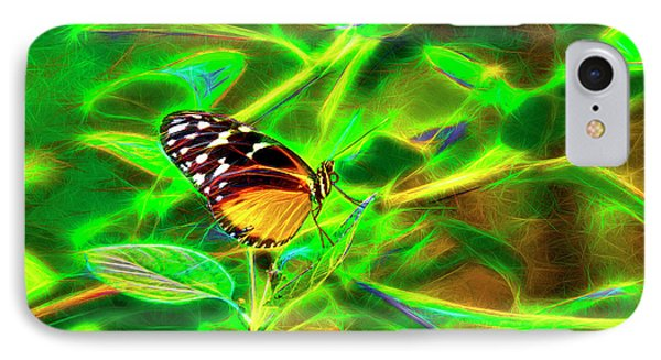 IPhone Case featuring the digital art Electric Butterfly by James Steele