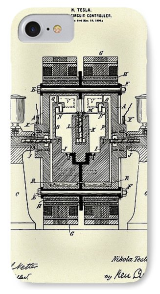 Electric Circuit Controller-1898 IPhone Case by Pablo Romero