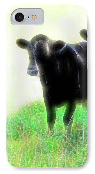 IPhone Case featuring the photograph Electric Cows by Ann Powell