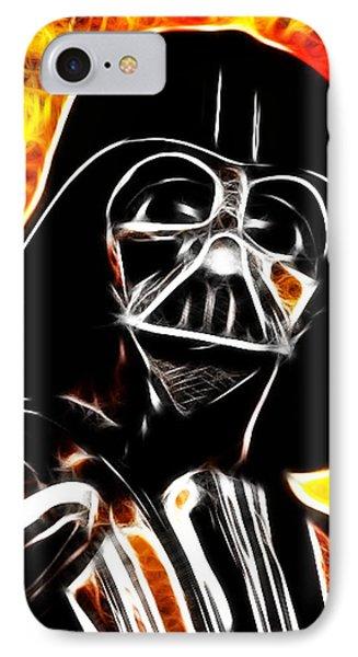Electric Darth Vader Phone Case by Paul Van Scott